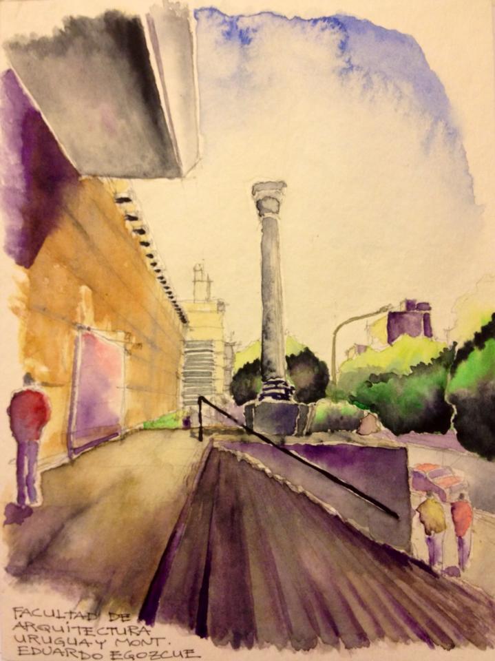 Montevideo en croquis eduardo egozcue arquitectura celeste for Cursos facultad de arquitectura